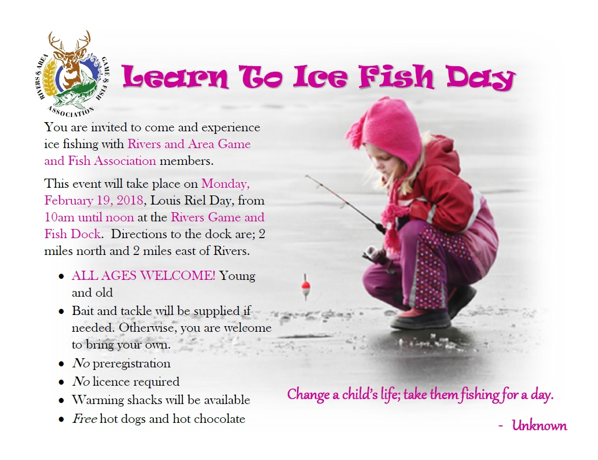 Riverdale municipality learn to fish 2018 for Learn to fish