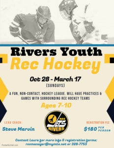 Rivers Youth Rec Hockey Poster